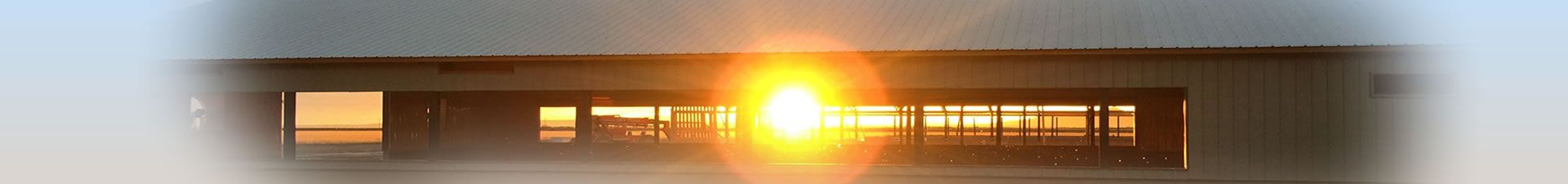 Sunrise through barn opening - Distributors